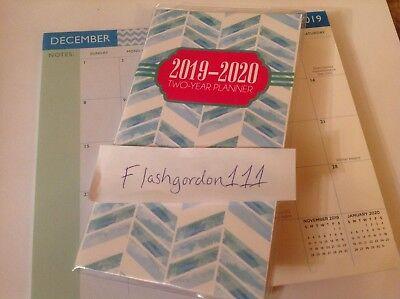 1 2019-2020 Blue Pattern 2 Two Year Planner 2019-20 Pocket Calendar Organizer