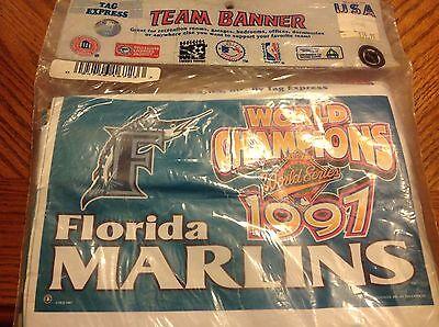 Marlin Tag - FLORIDA MARLINS 1997 WORLD SERIES CHAMPIONS 3' X 5' TEAM BANNER BY TAG EXPRESS