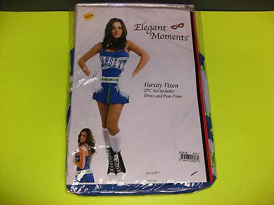 ELEGANT MOMENTS VARSITY VIXEN CHEERLEADER WOMEN HALLOWEEN COSTUME MEDIUM (Halloween Cheerleader)