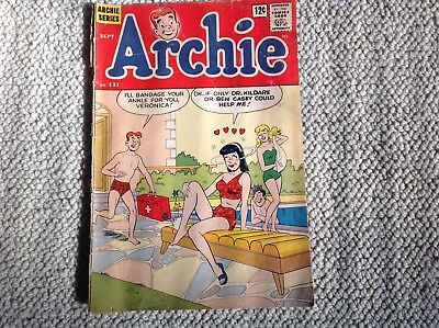 Archie #131 1962- Betty & Veronica- swimsuit cover