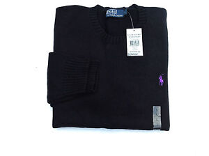 BNWT POLO RALPH LAUREN MEN'S  Cotton Crewneck Sweater jumper Long Sleeve RRP108£
