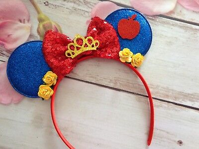 Snow White Inspired Minnie Mouse Ears headband- Disneyland-Disney World- new