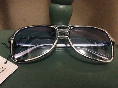 Aviator Silver Blue VICE Sunglasses sonny undercover agent costume retro - Undercover Agent Costume