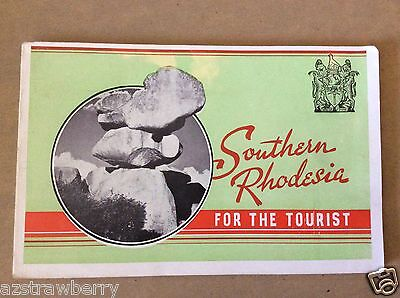 Vtg Southern Rhodesia For The Tourist Planning Travel Guide Book Map Cape Times