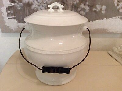 Antique / Vintage Ironstone Chamber Pot with Lid