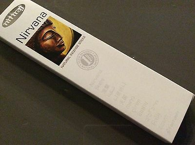 NIRVANA INCENSE STICKS 25g Box Nitiraj Platinum Natural Fair Trade Premium