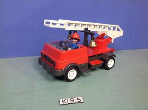 k95 playmobil camion pompier vintage de 1976 ref 3236 ebay. Black Bedroom Furniture Sets. Home Design Ideas