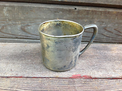 Antique Silver Plated Oneida Silversmiths Baby Cup