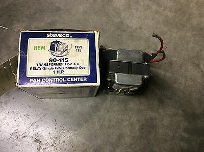 Steveco 90-115 Type 175 Transformer 115vac Relay Single Pole Normally Open 1hp