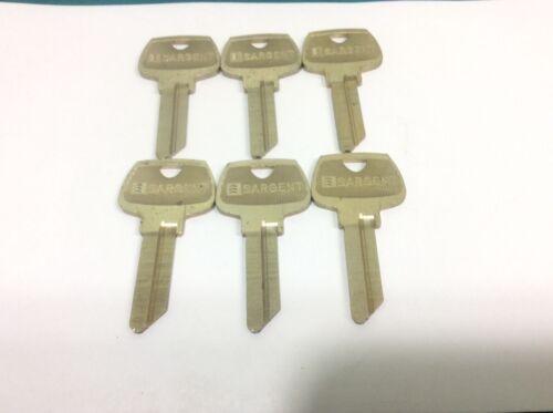 Sargent brand key blanks, 6 pin, set of 6, Lg keyway
