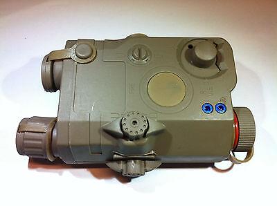 BATTLEAXE PEQ-15 Green Laser/&Battery Case for Airsoft Marui AEG GBB Tan