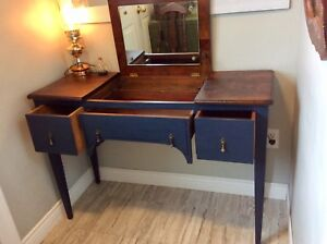 Antique vanity table and chair