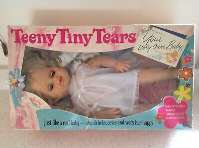 Vintage toy teeny tiny tears doll boxed