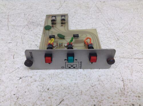 System E Controls 20345 3 Light C.M. 20553