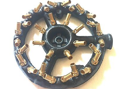 1Pcs, Jet Burner Round Shape, 32 Tips 3/4 Pipe Propane Gas Up to 320,000 BTU/HR Gas Pipe Btu
