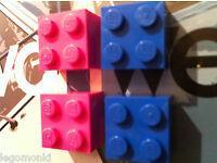 6 Retro Kitsch Lego Fridge Magnets Black Yellow Red