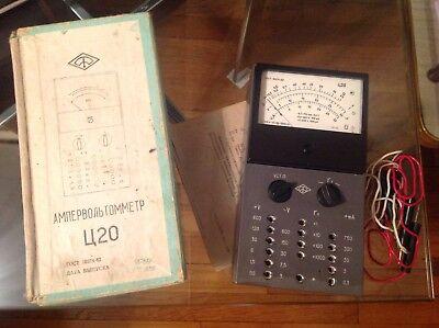 Vintage Ussr Analog Multimeter