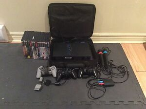 PS2 kit+14 games+3 controllers+2 SingStar mic
