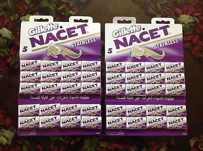 200 blades Gillette NACET new STAINLESS double edge razor blade high quality  ا