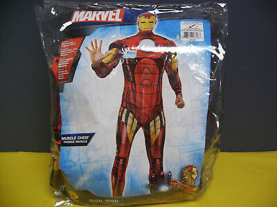 MARVEL IRON MAN MUSCLE CHEST MEN HALLOWEEN COSTUME XL