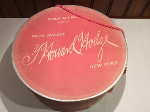 Vintage G Howard Hodge Fifth Avenue New York Hat Box Only