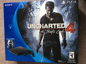 New unopened PlayStation 4 with uncharted 4