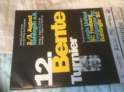 1996 KARL-HEINZ BENTE-TURNIER - LEEDS UNITED SC FREIBURG FREIBURGER BAHLINGER
