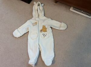 Fleece pram suit gender neutral 3-6 months