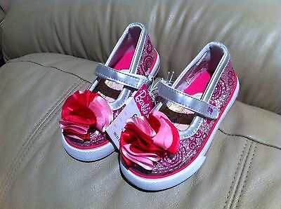 Silver Mary Janes For Girls (NEW- Barbie Toddler Girl's Ballet Mary Jane Silver Flat Shoes for Kids Girls)