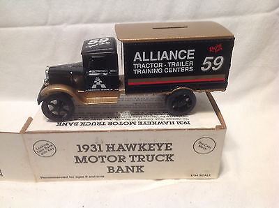 Alliance Racing Robert Pressley 1931 Hawkeye Motor Truck Bank Ertl  2173 1 34