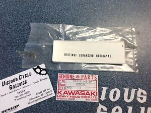 NOS Kawasaki Side Cover decal -H1/Kh 1969-76