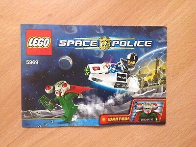 LEGO SPACE POLICE 5969 SQUIDMAN ESCAPE BAUANLEITUNG UNGELOCHT