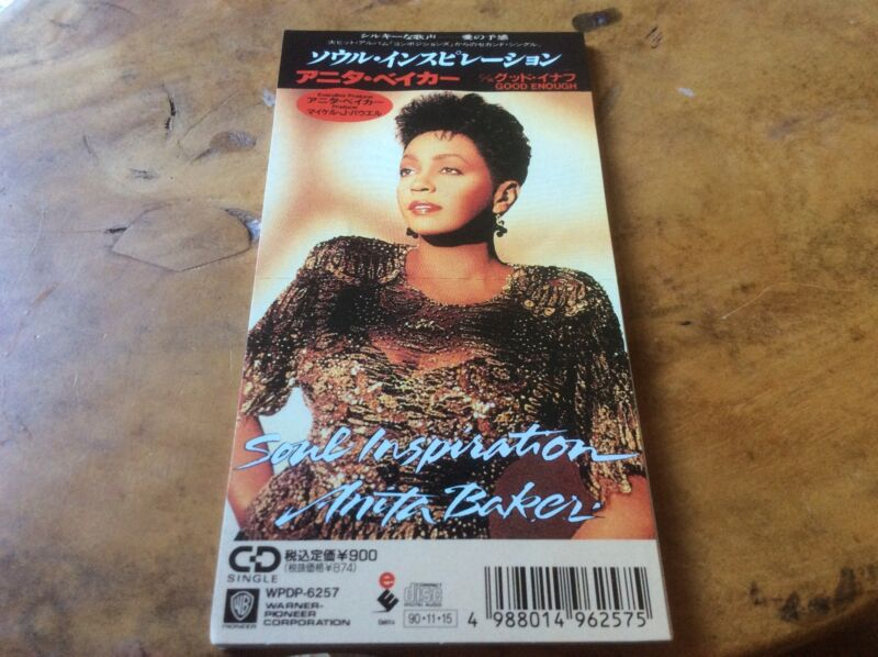 "Anita Baker - Soul Inspiration / Good Enough - Japanese 3""Cd. Extremely Rare."