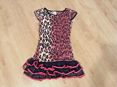 Leopard-Wildkatze-Mädchen-Tierkostuem-Kleid-Fell-Fasching-Karneval in Gr.140.