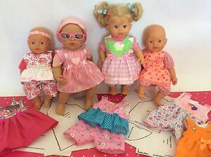 Großes SET Schnittmuster Puppenkleidung Baby Puppen 32cm - 36cm Little Baby Born