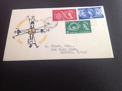 1957 Scouts First Day Cover Sutton Coldfield Special Slogan