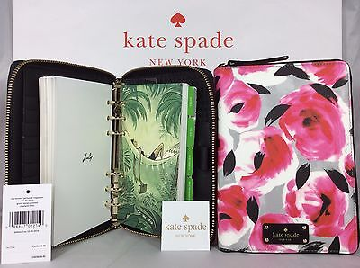 NWT Mother's Day Gift Kate Spade Rosebed Grove Street Personal Organizer Planner
