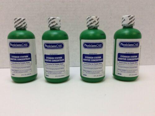 PhysiciansCare Eyewash Station Additive Concentrate, 4 Bottles, 8 Fl oz  90496