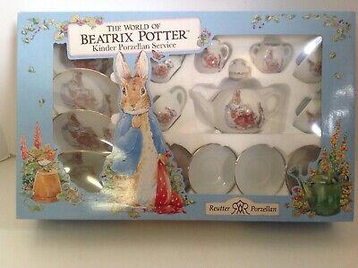 Beatrix Potter Kinder Porzellan Service Children's Porcelain Tea Set Reutter