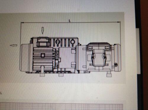 New in box Busch vacuum pump, RA0255, 10HP 3 phase, 230/460 volt