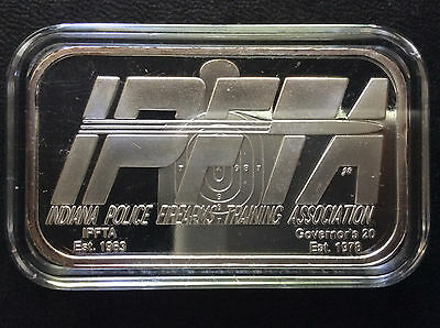 2005 Indiana Police Firearms Training Association Ipfta Silver Art Bar A4644