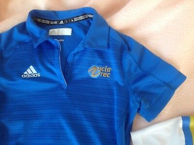 womens adidas Ucla Bruins embroidered polo shirt small casual fitness athletic for sale  Torrance