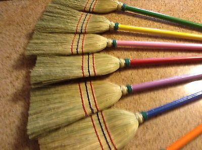 Yellow Painted Child Size Broom Great Easter Gift Really Works Just Smaller Size