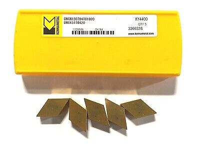 Kennametal Carbide Insert Dng451t0420 Grade Ky4400 Turning Indexable Inserts 5pk