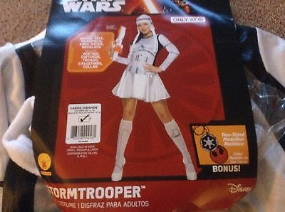 Star Wars Stormtrooper Dress Adult Costume Womens Large new nwt 14-16 rubies - Stormtrooper Costume Women