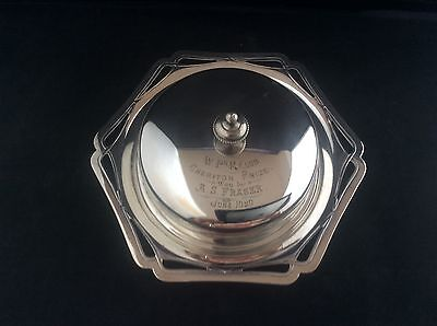 P&Co Silver Plated Muffin Dish Glass Liner Rifle Shooting Cheriton Prize 1920.