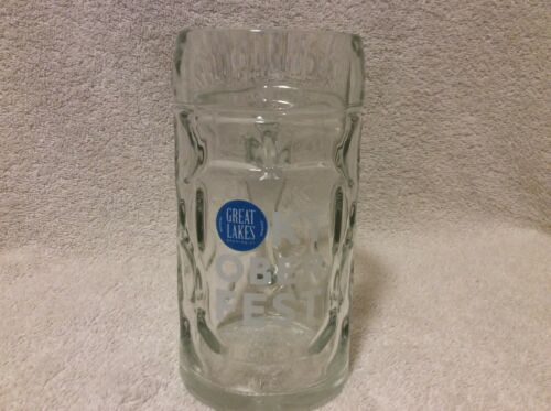 Great Lakes Brewing Oktoberfest frost .5 Liter Dimpled Drinking Glass Beer Mug