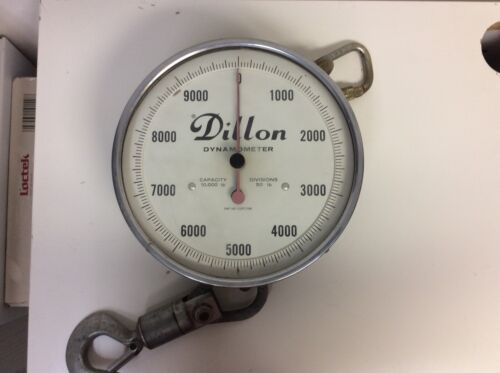 VINTAGE DILLON DYNAMOMETER 10,000 lbs Capacity 50 Pound Divisions S/N AP638*