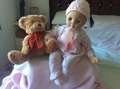 Baby ANNABELL Doll With Bottle OUTFIT ACCESSORIES interactive moving head & arm