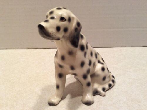 Vintage dog figurine, Dalmation, Japan clover insignia